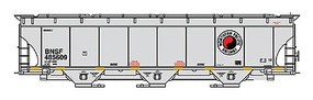 Intermountain Trinity 5161 Cubic Foot Covered Hopper - Ready to Run BNSF Railway (Northern Pacific Legacy Scheme, gray, Monad Logo) - N-Scale