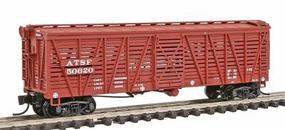 Intermountain Santa Fe Class Sk-R Single-Deck Stock Car - Ready to Run Santa Fe w/AB Brakes (Late, Boxcar Red) - N-Scale