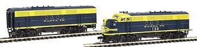 Intermountain EMD FTA-B Set - Standard DC - Santa Fe N Scale Model Train Diesel Locomotive #69013