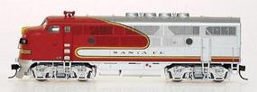 Intermountain EMD F3A - Standard DC - Santa Fe N Scale Model Train Diesel Locomotive #69105