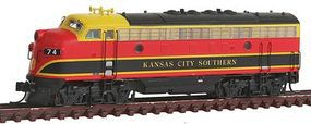 Intermountain EMD F7A - Standard DC - Kansas City Southern N Scale Model Train Diesel Locomotive #69253