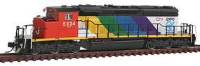 Intermountain EMD/GMDD SD40-2W DC - Canadian National #5334 N Scale Model Train Diesel Locomotive #69305