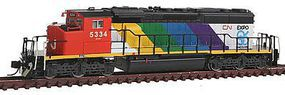 Intermountain SD40-2W DCC CN Expo 86 - N-Scale