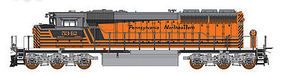 Intermountain SD40-2W DC Pennsylvania Northeastern RR N Scale Model Train Diesel Locomotive #69308