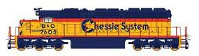 Intermountain EMD SD40-2 - Standard DC - Chessie System B&O N Scale Model Train Diesel Locomotive #69347