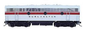 Intermountain EMD F7B DC Chicago, Burlington & Quincy (gray) N Scale Model Train Diesel Locomotive #69707