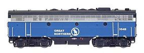 Intermountain EMD F7B Standard DC Great Northern (Big Sky Blue) N Scale Model Train Diesel Locomotive #69725