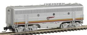 Intermountain EMD F3B DC Santa Fe (Warbonnet, silver, red) N Scale Model Train Diesel Locomotive #69805