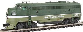 Intermountain FP7 without Sound Northern Pacific Lowey N Scale Model Train Diesel Locomotive #69933