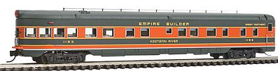 Intermountain 2-1-1 Observation-Buffet-Lounge Great Northern N Scale Model Train Passenger Car #7506