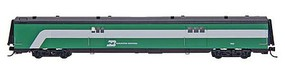 Intermountain Centralia Car Shops Streamlined Smooth-Side Baggage Car - Ready to Run Burlington Northern (Hockey Stick, Cascade Green, white) - N-Scale