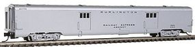 Intermountain Centralia Car Shops Streamlined Smooth-Side Baggage Car - Ready to Run Chicago, Burlington & Quincy (silver) - N-Scale