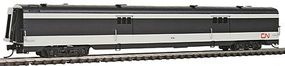 Intermountain Centralia Car Shops Streamlined Smooth-Side Baggage Car - Ready to Run Canadian National (black, white) - N-Scale