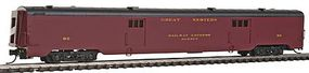 Intermountain Centralia Car Shops Streamlined Smooth-Side Baggage Car - Ready to Run Chicago Great Western (maroon) - N-Scale