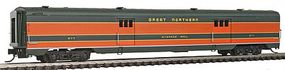 Intermountain Centralia Car Shops Streamlined Smooth-Side Baggage Car - Ready to Run Great Northern (Pullman Green, Omaha Orange) - N-Scale