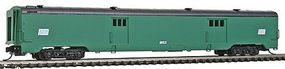 Intermountain Centralia Car Shops Streamlined Smooth-Side Baggage Car - Ready to Run Penn Central (Jade Green, black) - N-Scale