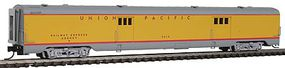 Intermountain Centralia Car Shops Streamlined Smooth-Side Baggage Car - Ready to Run Union Pacific (Streamliner Scheme, Armour Yellow, gray) - N-Scale