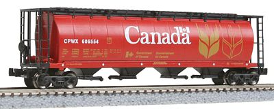 Intermountain Railway Company 59' 4-Bay Cylindrical Covered Hopper Canada -- Z Scale Model Train Freight Car -- #85102