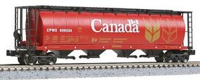 Intermountain 59 4-Bay Cylindrical Covered Hopper Canada Z Scale Model Train Freight Car #85102