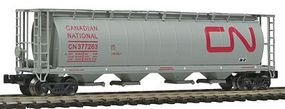 Intermountain 59 4-Bay Cylindrical Covered Hopper Canadian National Z Scale Model Train Freight Car #85205