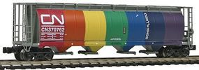 59' 4-Bay Cylindrical Covered Hopper Canadian National Z Scale Model Train Freight Car #85225