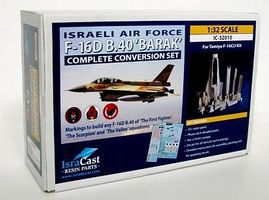 Isradecal IAF F16D B40 Barak Complete Conversion Kit for TAM Plastic Model Aircraft 1/32 #32010