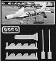 Isradecal Rafael Python 3 Air-to-Air Missiles (Resin) Plastic Model Aircraft Accessory 1/48 #48024