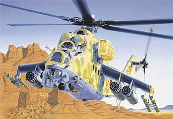 Italeri Mi-24 Hind D/E -- Plastic Model Helicopter Kit -- 1/72 Scale -- #0014s