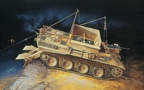 Italeri SD. Kfz 179 Bergepanther Tank Plastic Model Military Vehicle Kit 1/35 Scale #0285s