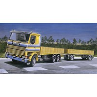 Italeri Scania 142M Flatbed Truck/Trailer Plastic Model Truck Kit 1/24 Scale #0770s
