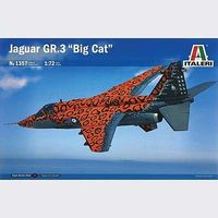 Italeri Jaguar Gr.3 Big Cat Special Colors Plastic Model Airplane Kit 1/72 Scale #1357s
