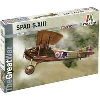Italeri Spad S.XIII Plastic Model Airplane Kit 1/72 Scale #1366s