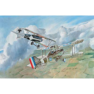 S.E.5a / Albatros D.III (2 model kits) Plastic Model Airplane Kit 1/72 Scale #1374s