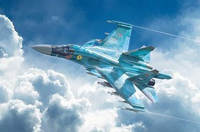 Italeri Sukhoi SU-34/32 Fullback Plastic Model Airplane Kit 1/72 Scale #1379s