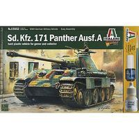 Italeri Sd.Kfz 171 Panther Ausf.A Plastic Model Military Vehicle Kit 1/56 Scale #15652