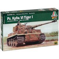 Italeri Pz.Kpfw.VI Tiger I Tank Plastic Model Military Vehicle Kit 1/56 Scale #15755