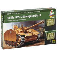 Italeri Sd.Kfz.142 Sturmgeschutz III Tank Plastic Model Military Vehicle Kit 1/56 Scale #15756
