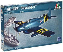 Italeri AD-4W Skyraider Plastic Model Airplane Kit 1/48 Scale #2757s