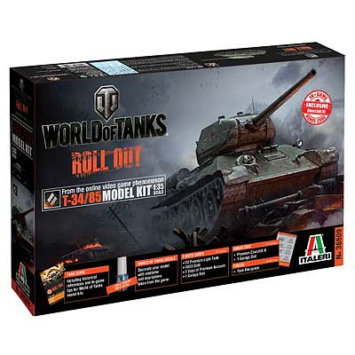 Italeri World of Tanks T-34/85 -- Plastic Model Military Vehicle -- 1/35 Scale -- #37509