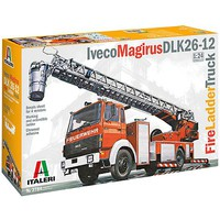 Italeri Iveco-Magirus DLK 23-12 Fire Ladder Truck Plastic Model Truck Kit 1/24 Scale #3784s