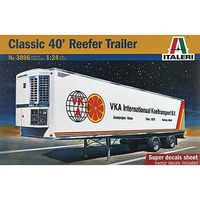 Italeri Classic 40 Reefer Trailer Plastic Model Trailer Kit 1/24 Scale #3896s