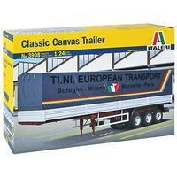 Italeri Classic Canvas Trailer Plastic Model Truck Kit 1/24 Scale #3908s