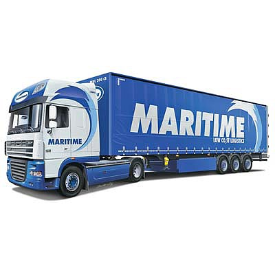 Italeri DAF XF105 with Trailer ''Maritime Transport'' -- Plastic Model Truck Kit -- 1/24 Scale -- #3920s
