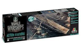 Italeri World Of Warships U.S.S. Essex Plastic Model Military Ship Kit 1/700 Scale #46503