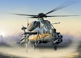 Italeri A129 Mangusta Plastic Model Helicopter Kit 1/72 Scale #550006