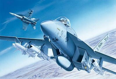 Italeri F/A-18 Super Hornet Plastic Model Airplane Kit 1/72 Scale #550083