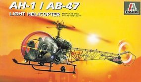 Italeri OH-13/AB-47 Plastic Model Helicopter Kit 1/72 Scale #550095
