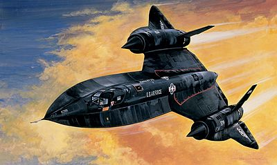 Italeri SR71 Blackbird Aircraft Plastic Model Airplane Kit 1/72 Scale #550145