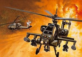 Italeri AH64 Apache Plastic Model Helicopter Kit 1/72 Scale #550159