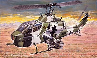 Italeri AH-1 Super Cobra -- Plastic Model Helicopter Kit -- 1/72 Scale -- #550160